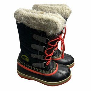 SOREL Youth Joan Of Arctic Winter Boot NY1858-011 Girls Size 2 Pre-Owned EUC